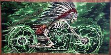 Large Indian Skeleton Motorcycle Bath Beach Towel Biker Gift #1001