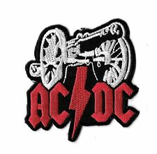 "New AC/DC 'Cannon' 2 1/2 X 2 1/2 "" Inch Iron on Patch Free Shipping"