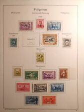 RARE Page of Philippine Stamps 1938-48 w/ OB & Commonwealth Overprints