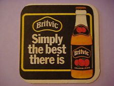 British Beer COASTER Bar Mat  ^^  BRITVIC Orange Fruit Juice ~*~ Simply the Best