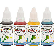 4 Color 1oz Airbrush Face & Body Art Paint Kit Water-Based Custom Temp Tattoo