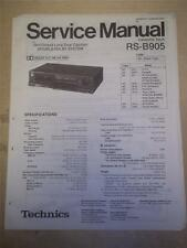 Panasonic Service Manual~RS-B905 Cassette Deck Tape Player~Original~Repair