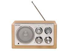RADIO DESIGN RETRO VINTAGE AM/FM ENTREE AUX LECTEUR MP3... FINITION BOIS LAQUE