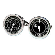 Car Speedo & Fuel Gauge Cufflinks Gift Boxed gas display speed dial PSN103 BN