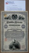 Mexico Republica Mexicana 1885 Christopher Columbus £200/$1,000 Mexican Bond