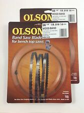 """Olson Band Saw Blades 56-1/8"""" x 1/8"""" 14TPI for Delta 28-180, 28-185 & others (2)"""