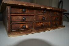 Superbe petit meuble de rangement d'atelier en bois - 9 tiroirs - Loft - Garage