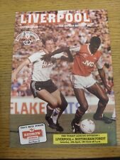 18/04/1987 Liverpool v Nottingham Forest  . Unless previously listed in brackets