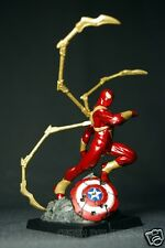 CUSTOM IRON SPIDER-MAN SPIDERMAN CLASSIC FIGURE STATUE EAGLEMOSS SCALE FIGURINE