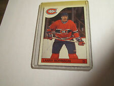 AUTOGRAPH LARRY ROBINSON 1985-86 TOPPS CANADIANS