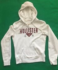 """Women's White Hollister Hoodie L Large Chest 40"""" Length 23 1/2"""" Sleeve 31"""""""