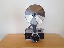 Vintage Rangefinder Camera Konica Auto S2 w/ Hexanon 1.8/45mm & Citation Flash