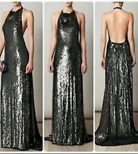Dvf diane von furstenberg Size 8 Gunmetal Gray Sequin Christa Evening Gown NWOT