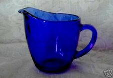 Collectible ANCHOR HOCKING Cobalt Blue Glass Creamer / Pitcher