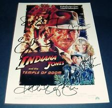 INDIANA JONES : TEMPLE DOOM CAST PP SIGNED POSTER 12X8