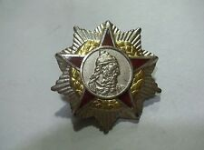 ALBANIA ORDER OF SCANDERBEG  SECOND CLASS  SOLID SILVER MEDAL Ikom Zagreb R4