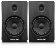M Audio BX8 D2 Studio Monitor 130W Speaker Pair & 2 x Wall Brackets