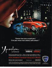 PUBLICITE ADVERTISING 094  2009  LANCIA  YPSILON