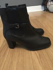 Next Ladies Black Leather Ankle Boots Sz 3.5 / EUR 35.5 BNWT