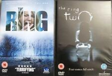 THE RING 1 and 2 (One & Two) Naomi Watts Spooky Supernatural Horror DVD *EXC*
