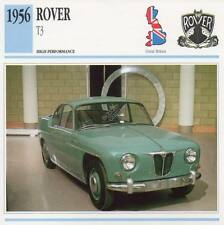 1956 ROVER T3 Classic Car Photo/Info Maxi Card