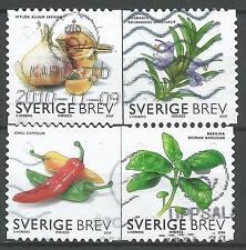 ˳˳ ҉ ˳˳SW17 Sweden Sverige Complete set 2009 Different Vegetables Garlic Peppers