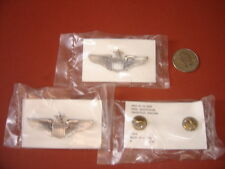 USAF ISSUE LOT OF(3) SENIORS  PILOTS  WINGS CURRENT ISSUE MINIATURE  SHIRT SIZE