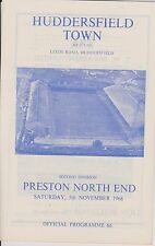 Huddersfield town v preston north end 66-67 ligue match