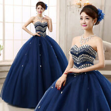 2017 Royal Blue Quinceanera Dress Formal Prom Party Wedding Dresses Ball Gown