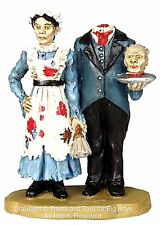 Lemax 02779 HEADLESS BUTLER & MAID Spooky Town Figure Retired Halloween Decor I