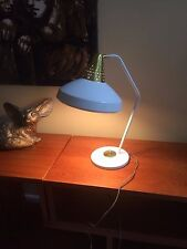Vintage White Gold Swivelier Atomic Desk Lamp Mid Century Light