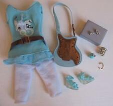 Hannah Montana Doll Miley Cyrus Cloth DRESS POPSTAR mint green dress/wedge shoe