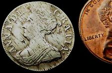 S113: 1710 Queen Anne Good Grade Silver Threepence. Contemporary Haymarking
