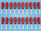 20X 30Amp Power Connector Anderson Style Plug 12v 24v Fridge Charger Battery Red