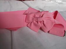 BRAND NEW BABY PINK BOW BELT WITH SILVER FASTNER 39inch