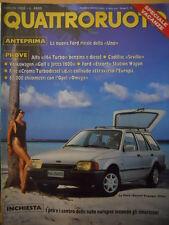 Quattroruote 393 1988 - Alfa 164 Turbo benzina e diesel - Cadillac Sevi    [Q43]