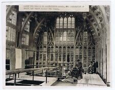 WESTMINSTER ABBEY Henry VII Chapel Renovations - Vintage Press Photograph c1940s