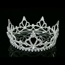 Full Crown Bridal Pageant Rhinestone Crystal Wedding Tiara 7485