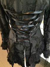 Punk Rave Womens Jacket Tailcoat 10 Black Lace Goth Steampunk  Romantic