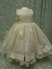 Doll Fashion underdress with attached petticoat: handcrafted, cream cp-712