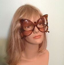 Rare Vtg Anglo American Oversize Butterfly Frame Sunglasses/Eyeglasses England