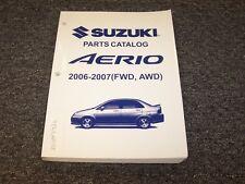 2006-2007 Suzuki Aerio Sedan Factory Original Parts Catalog Manual Book 2.3L