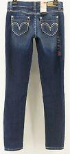 Levis 524 Skinny Jeans Juniors Size 1 Too Superlow Blue Denim