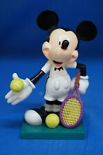 "Mickey Love All 6"" Figurine 17830 Disney Inspearations Retired Tennis Agassi"