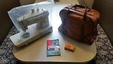 Singer Sewing Machine Model 522 Stylist Freearm With Faux Leather Bag!