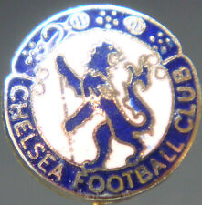CHELSEA FC Vintage club crest type badge Stick pin In gilt 15mm x 15mm