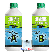 NUTRIFIELD ELEMENTS GROW A&B 1L HYDROPONIC GROWING NUTRIENTS