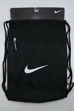 NIKE TEAM TRAINING GYMSACK BLACK/WHITE DRAWSTRING BAG BACKPACK GYM SACK BA4694
