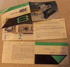 52 page booklet YASHICA SUPER 8 Super 60E Electronic Film Video Camera