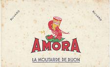 """Buvard Vintage """" Moutarde Amora la Moutarde de Dijon """""""